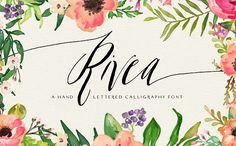 Perfect for wedding invitations!  Rivea Upright by Magpie Paper Works on @creativemarket
