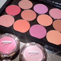 New Makeup Geek blushes! 13 beautiful shades available in both pans and compacts. www.makeupgeek.com!