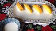 Khao Niaow Ma Muang in disguise Thai Sticky Rice with Mango and coconut milk dip