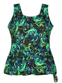 7873a82464e49 Plus-Size Swimwear Top - Wear Your Own Bra - Solid Black - Walmart.com