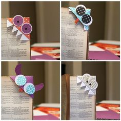 Monster Bookmarks - DIY For that lil nerd in me! would be cute with all kinds of scrapbook paper! probably won't even do monsters Kids Crafts, Cute Crafts, Crafts To Do, Felt Crafts, Craft Projects, Cute Bookmarks, How To Make Bookmarks, Corner Bookmarks, Origami