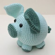 Knitting Patterns Animals amigurumi – free crochet and knit patterns – free pattern Crochet Mignon, Crochet Pig, Crochet Patterns Amigurumi, Cute Crochet, Baby Knitting Patterns, Crochet For Kids, Crochet Animals, Crochet Dolls, Knitting Toys