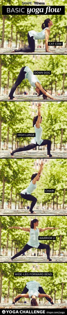 Start your week feeling refreshed and balanced with our Basic Yoga Flow From SHAPE and Two Fit Moms. Flow through each pose at least three times for best results.