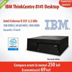 Calculatorul HP Elite 8000 SFF cu procesor Intel Core 2 Duo E8400, 4 GB DDR3, HDD 250 GB, DVD-RW la numai 780 lei! Economisesti 120 de lei!