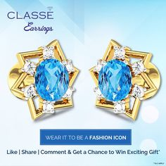 Gold Diamond Earrings, Wedding Jewelry, Jewels, Gifts, Accessories, Collection, Presents, Jewerly, Favors