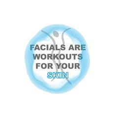 Facials are workouts for your skin! Don't you agree? Facials, Your Skin, Workouts, Skincare, Tools, Instruments, Skincare Routine, Facial, Skins Uk
