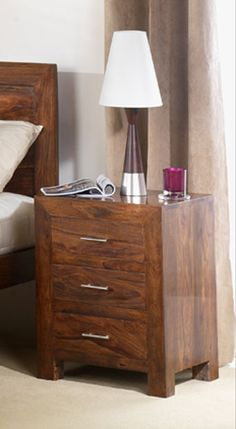 f12500d16b Cuba Sheesham 3 Drawer Bedside Cuba Sheesham Collection bedroom furniture  is crafted from Sheesham with acacia