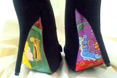 Alice in Wonderland Custom Hand Painted High Heels by SDPumps, $40.00