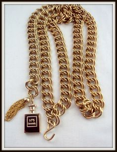 1985 Gold Belt or necklace Chanel vintage previously by ChiCbySB, $349.00