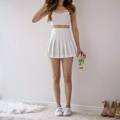 @deriang22deri Girl Fashion, Fashion Outfits, Casual Outfits, Only Fashion, Outfits For Teens, Skirt Outfits, Cute Outfits, Womens Fashion, School Outfits
