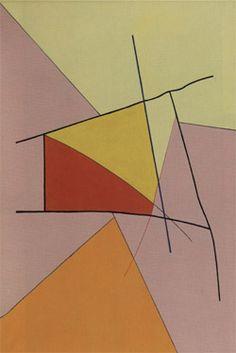 """Danish-born artist Richard Mortensen (1910-1993) """"Meta-Ignis"""", 1977. Oil on canvas. © KunstCentret Silkeborg Bad, Denmark. #Dansk #Kunst #Danish #Art"""