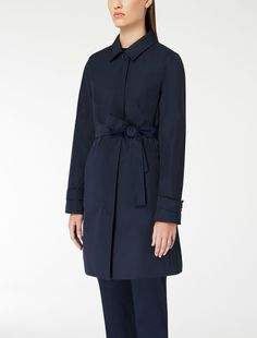 Drip proof twill trench coat