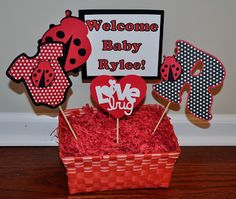 Pics Of Ladybug Baby Shower Centerpieces Theme Ideas