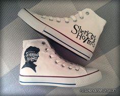 Sherlock dipinta scarpe / Custom Converse di FeslegenDesign