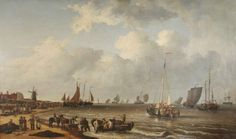 The Mackerel Market on Yarmouth Beach, Norfolk by Robert Ladbrooke Date painted: 1810 Oil on canvas, 84 x 145 cm Collection: Great Yarmouth. Great Yarmouth, Art Uk, Norfolk, Archaeology, Landscape Paintings, Oil On Canvas, Sea, Marketing, Museums