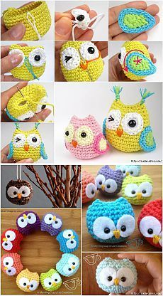 47 Super Ideas For Knitting Patterns Free Owl Crochet Animals Crochet Animal Amigurumi, Crochet Owls, Wire Crochet, Crochet Animals, Crochet Crafts, Crochet Projects, Diy Crafts, Crochet Keychain, Crochet Bookmarks
