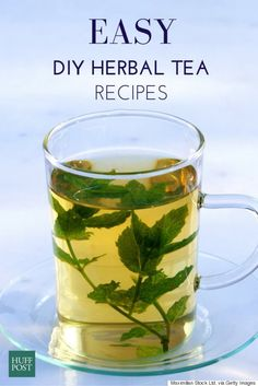 """DIY tea recipes you can make from your own garden. Tea and tisane enthusiasts, prepare to have your tea-filled world rocked.First things first: teas like chamomile and peppermint aren't really called teas at all.""""Tea is anything that comes from the ca. Homemade Tea, Homemade Detox, Detox Tea Diet, Detox Drinks, Peppermint Tea, Tea Recipes, Detox Recipes, Drinking Tea, Health Foods"""