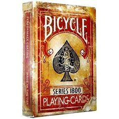 Standard Playing Card Decks - Bicycle 1800 Vintage Series Playing Cards by Ellusionist Red * You can find out more details at the link of the image.