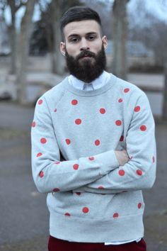 Acne studios #beard #polka-dot