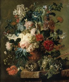 Paulus Theodorus van Brussel (Dutch, 1754-1795) - Still life with flowers, 1792 - Oil on canvas