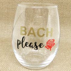 Bach please!! Shop this now at theburlapwinesack.com! #bachelor #thebachelor