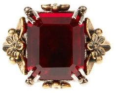 ALEXANDER MCQUEEN Crystal-embellished ring