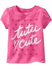 Puff-Sleeve Graphic Tees for Baby