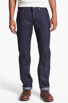 UNBRANDED &UB221& Slim Fit Raw Selvedge Jeans (21 Oz. Indigo Selvedge)