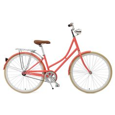 WANT! Coral Dutch Style 1-Speed City Bike ›› $249