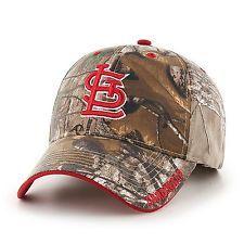 St Louis Cardinals Hat MLB Mens Adjustable Realtree Camo Licensed Baseball Cap