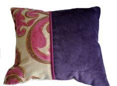 Almohadón Donata Pana violeta + Lordi rosado Medidas: 30x40