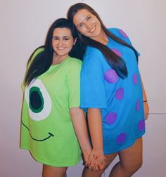 DIY mike and sully halloween costume