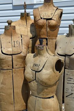 old expandable dress forms