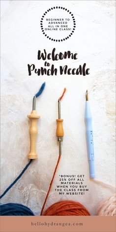 Punch needle tutorials - learn how to punch needle with this online video class!