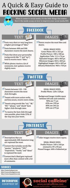 Muista myös rekrytointiviestinnässä ja työnantajamarkkinoinnissa: The Quick & Easy Guide to Rocking Social Media #Infographic