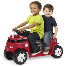 Radio Flyer Battery-Operated Fire Truck for 2 with Lights and Sounds for Sale