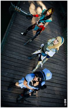 Lady Draven Lux Officer Caitlyn League of legends by *Candustark