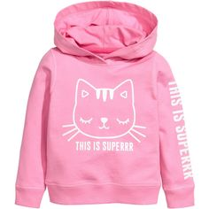 H&M Printed Hooded Sweatshirt $6.99 ❤ liked on Polyvore featuring tops, hoodies, light weight hoodie, pink hoodies, pattern hoodie, patterned hoody and hooded pullover
