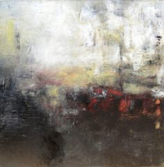 Reaching Beyond by Madeline Garrett in oil and cold wax on canvas.