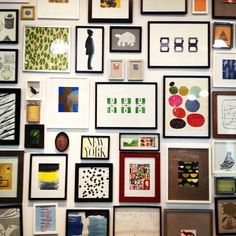 makes me want to redo my own gallery wall {Moth Design: Dear Saturday}