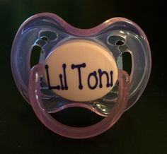Personalized name pacifier daycare baby shower by theprintedpoppy personalized pacifiers baby pacifier baby shower gift personalized baby shower gift monogrammed negle Images