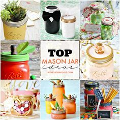 DIY Crafts - Top Mason Jar ideas at the36thavenue.com These are the best!