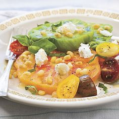 Heirloom Tomato Salad With Fresh Lady Peas Recipe | MyRecipes.com