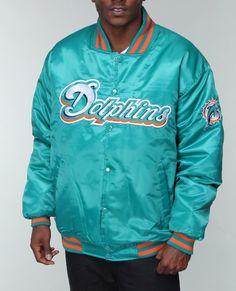 IndiaViolet Shop: Nba, Mlb, Nfl Gear Men Miami Dolphins Custom Satin Jacket, $89.99
