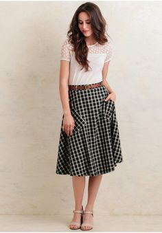 This swing skirt can be worn to a family get-together or a stroll through the park.