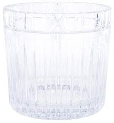 Clear crystal Tiffany & Co. Atlas ice bucket with rectangular cuts at side with acid etched band stamp at underside. Tiffany Atlas, Tiffany And Co, Clear Crystal, Accent Decor, Bucket, Crystals, Accessories, Crystal, Buckets