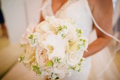 Pale pink and ivory wedding bouquet  Anna Kim Photography