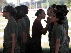 One of my drill instructors, Ssgt. Puente. I will always believe that the smallest female Marines are the ones that will eat your ass alive. She inspired me along with my other D.I.'s to become a drill instructor. They did an amazing job with Oscar Company, Platoon 4006.