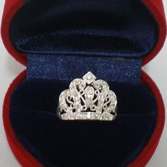 King Crown 925 Silver Ring Size Selectable US 3  13 by yhtanaff, $25.00