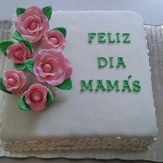 MaiCookie mother's day fondant rose cake. Pastel día de las madres